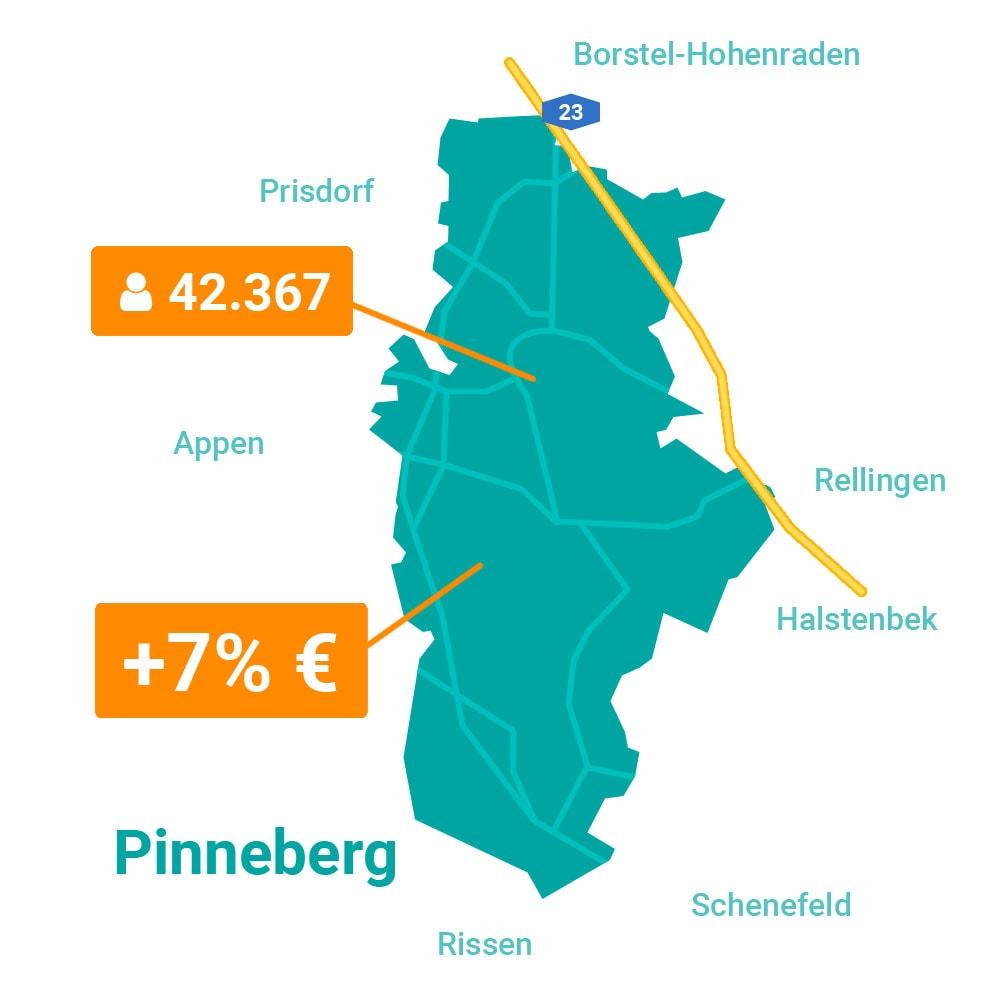 Pinneberg Karte